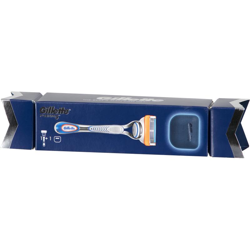 Dárkový SET Gillette Fusion 5 Proshield (holící strojek + cestovní puzdro)