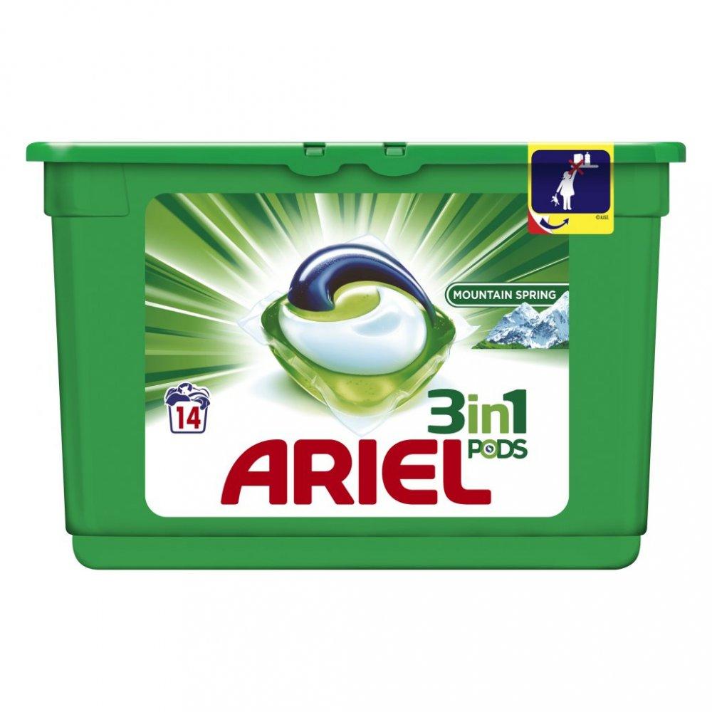 Ariel Pods kapsle na praní 14 ks - Mountain Spring