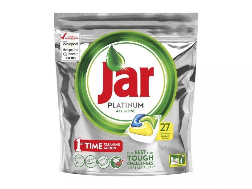 Jar Platinum All in 1 Lemon kapsle do myčky nádobí 27 ks