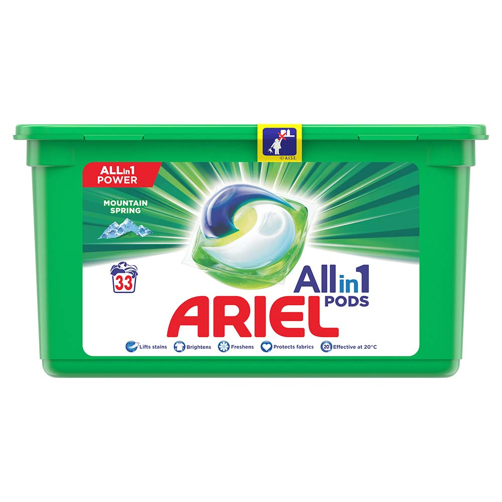 Ariel Allin1 Pods Mountain Spring Kapsle Na Praní 33 PD Bezvadný